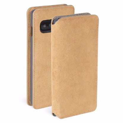 Picture of Krusell Krusell Broby 4 Card Slim Wallet Case for Samsung Galaxy S10 in Cognac